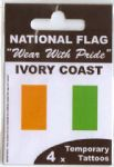 Ivory Coast Country Flag Tattoos.